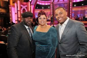 Phil Thornton pictured with David & Tamela Mann