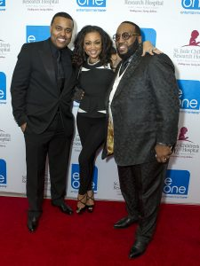 Thornton pictured with R&B Diva Chante Moore and Gospel Singer Marvin Sapp